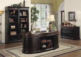 home office set. Nicolas 3 Piece Traditional Home Office Executive Set In Two Tone Finish By Coaster - 800921S
