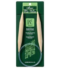 Bamboo, metal, plastic, and resin are common lengths are 16, 24, 29, 36, and 40 inches. Clover Takumi 36 No 19 Bamboo Circular Knitting Needles Joann