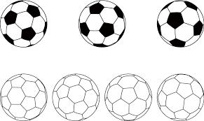 フリーイラスト 7種類のサッカーボールのセットでアハ体験 Gahag