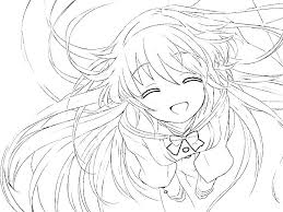 Printable Anime Coloring Pages Denconnectscom