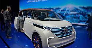 2018 volkswagen electric. interesting 2018 concept electric minivan 20182019 volkswagen budde  the german  manufacturer presented in las vegas january 5 exhibition consumer  for 2018 volkswagen
