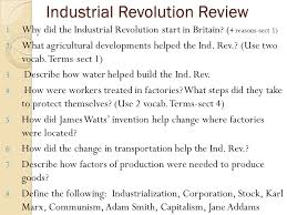 tuesday please get out your essay article to be collected  2 industrial revolution