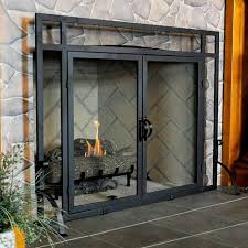 interior amazing modern fireplace doors free standing glass screens plan cast iron castor oil uses of