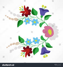 Hungarian Folk Embroidery Designs Little Colorful Hungarian Folk Embroidery Pattern Stock