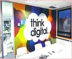creative office wall art.  Office Professional Office Wall Art Creative Branding Using Graphics From Vinyl  Impression Stickers Give Colors Intended