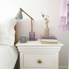 Painting Bedroom Furniture White How To Upcycle A Bedside Table With Chalk Paint And New Brassware