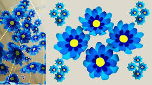 Paper Flower Mobiles Diy 2 Elegant Blue Mobile Hanging Dangling Ceiling