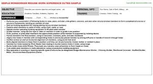 Iron Worker Resume Best Resume Gallery