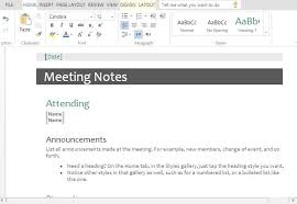 Meeting Templates Word Meeting Minutes Templates For Word 89