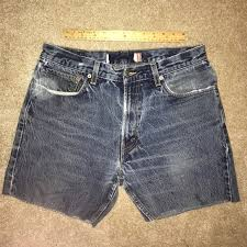 Levi High Waisted Shorts Size Chart Levi Custom Vintage Jean Shorts