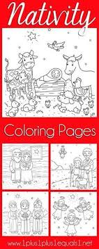 Christmas Nativity Coloring Pages 1plus1plus1equals1 Design