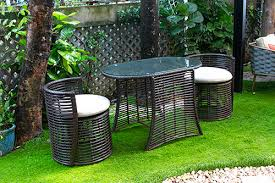 space saving patio rattan dining cafe