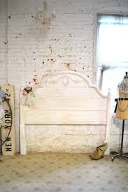 Shabby Chic Headboard Painted Cottage Shabby Chic Romantic French Headboard Queen Full