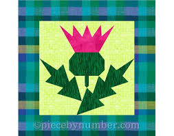 Paper Piecing Flower Thistle Flower Quilt Block Pattern Paper Pieced Quilt Etsy