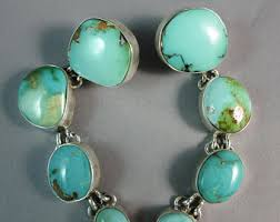 navajo kathleen chavez natural royston turquoise 925 curved dangle earrings