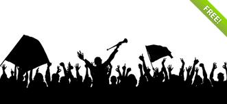 sports crowd silhouette. pin crowd clipart silhouette #6 sports e