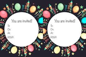 Print Out Birthday Invitations Dreaded Kids Party Invites 100 Free Printable Birthday Party 35