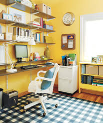 Yellow Office 30 Gorgeous Home Office Designs