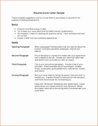 Yralaska Com Resume In Letter Format Format Of A Cover Letter For