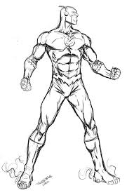 Color Superhero The Flash Coloring Pages For Kids Coloring
