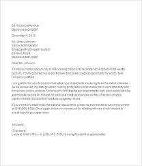 Awesome Collection Of Sample Thank You Letter After Interview Cna