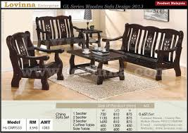 Classy lovinna product malaysia wooden sofa Latest Wooden