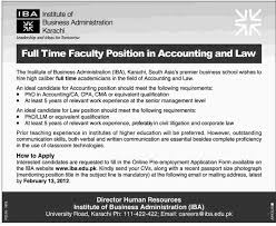 iba karachi required accounting and law faculty in jobs in karachi iba karachi required accounting and law faculty