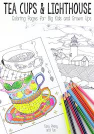Small Picture Tea Cups and Lighthouse Coloring Pages Easy Peasy and Fun