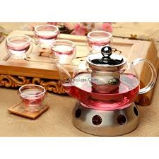 more views stainless steel candle teapot warmer