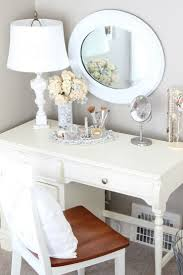 desk and vanity combo. turn an old desk into a vanity. can add glass table top as well. and vanity combo t