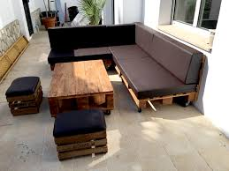 The Black Diy Pallet Sectional Sofa Project