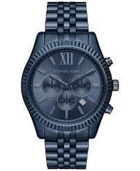michael kors men s chronograph lexington blue ion plated stainless michael kors men s chronograph lexington blue ion plated stainless steel bracelet watch 44mm mk8480