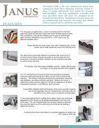 DoorWorks | Janus Model 2500 / 2500I Heavy Duty Commercial Sheet Door