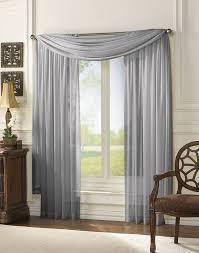 Classic Chiffon Window Curtain Panels - Bed Bath & Beyond