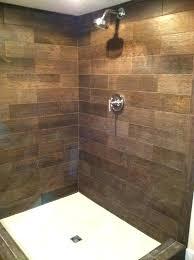 wood look tile shower floor great bathroom for remodel 17