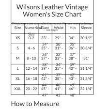 Wilsons Leather Size Chart Wilson S Leather Vintage Scuba Jacket