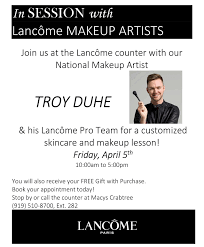 lancôme national makeup artist event troy duhe