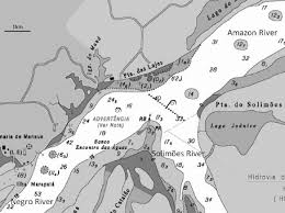 Nautical Chart Numbers Nautical Chart Showing The Confluence Of The Negro And The
