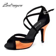 Ladingwu <b>Latin</b> Dance Shoes For <b>Women</b> Black <b>Flannel</b> and ...