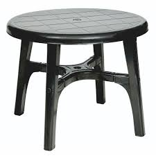 plastic garden 90cm round table heavy duty for r230