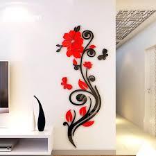 3d wall art beautiful acrylic flower shape home decorative wall stickers diy 3d wall art erflies
