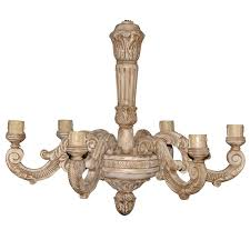 carved wood chandelier for