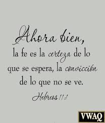 love is es in spanish with faith is being sure of what we hope for love is es