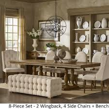 Gilderoy Natural Oak Finish Rectangular Extending Dining Set by iNSPIRE Q  Artisan - Free Shipping Today - Overstock.com - 24628876