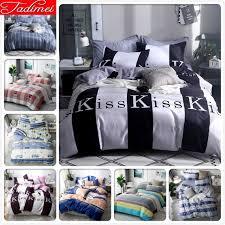 new kiss black white duvet cover 2 pillowcase bedding set kid child soft cotton bed linen single