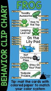 Frog Themed Behavior Chart Frog Behavior Clip Chart Frog Theme Classroom Behavior