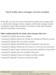 Top8insidesalesmanagerresumesamples 150402080852 Conversion Gate01 Thumbnail 4 Jpg Cb 1427980182