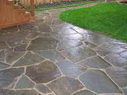 blue stone patio ideas