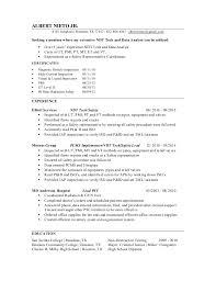 Ndt Inspector Resume Non Destructive Testing Technician Resume
