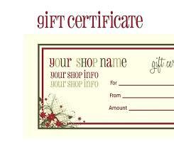 gift voucher template word free inspirational template within gift certificate template 2018